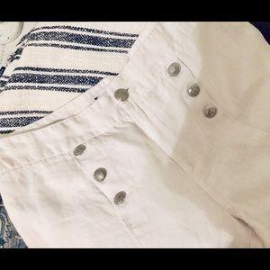 New York & Company White Linen Pants